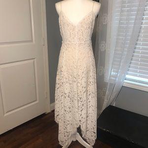Lulus One Wish White Lace Midi Dress Size Small